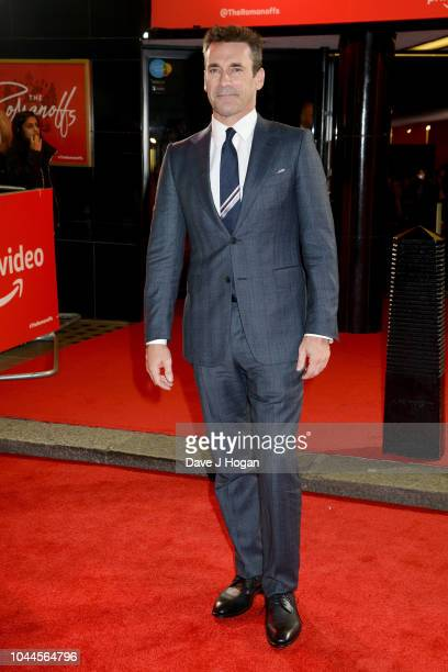 Jon Hamm attends the World Premiere of Amazon Prime Video's The Romanoffs at The Curzon Mayfair on October 2 2018 in London England