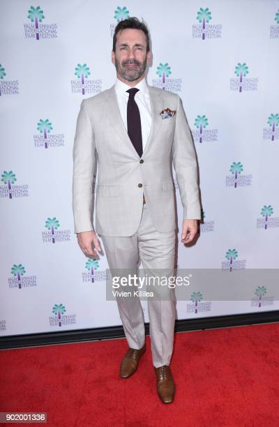 Jon Hamm attends the World Premiere of Nostalgia at the 29th Annual Palm Springs International Film Festival on January 6 2018 in Palm Springs...