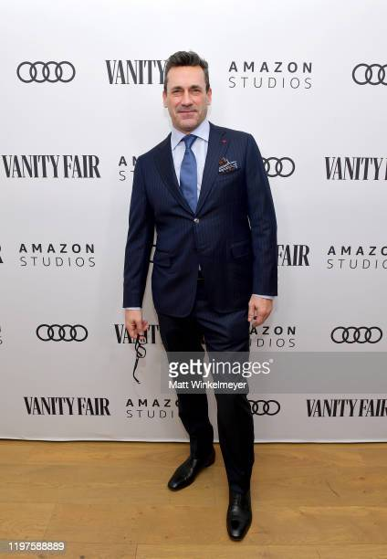 Jon Hamm attends Vanity Fair Amazon Studios and Audi Celebrate The 2020 Awards Season at San Vicente Bungalows on January 04 2020 in West Hollywood...