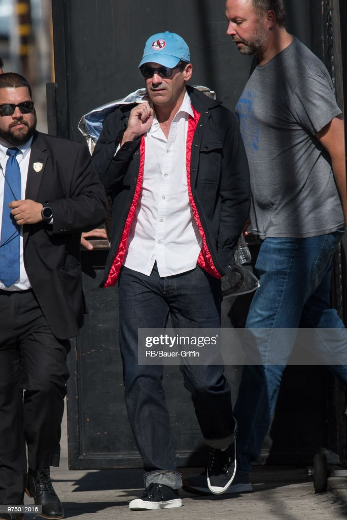 Jon Hamm is seen at 'Jimmy Kimmel Live' on June 14, 2018 in Los Angeles, California.