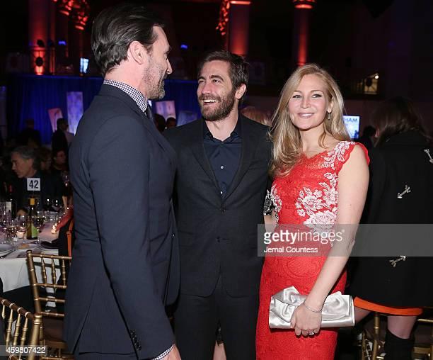 Jon Hamm Jake Gyllenhaal and Jennifer Westfeldt attend IFP's 24th Gotham Independent Film Awards at Cipriani Wall Street on December 1 2014 in New...
