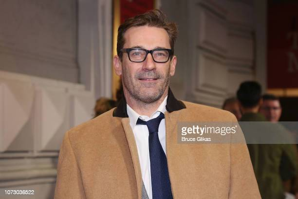 Jon Hamm poses at the opening night of the hit play To Kill a Mockingbird on Broadway at The Shubert Theatre on December 13 2018 in New York City