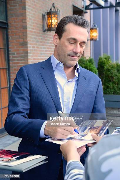 Jon Hamm seen out and about in Manhattan on June 12 2018 in New York City