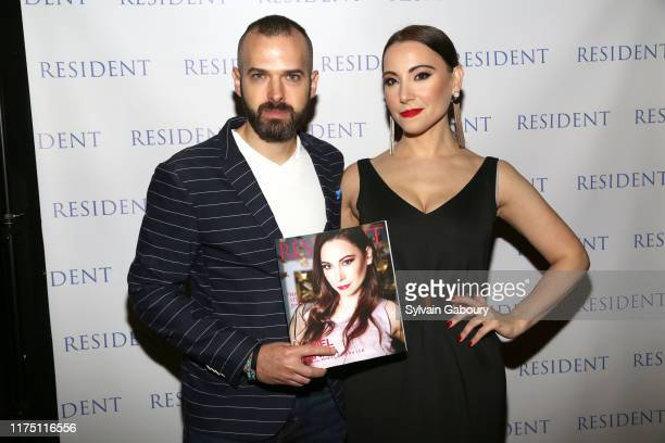 Jon Harari and Janel Tanna attend Janel Tanna's Cover Party By Resident Magazine at Philippe Chow on October 9 2019 in New York City