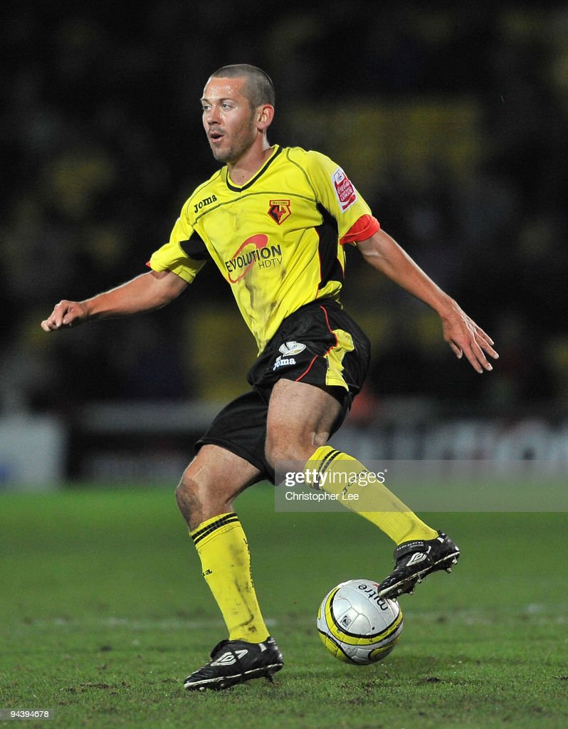 Jon Harley of Watford in action during the Coca-Cola Championship match between Watford and Derby County at Vicarage Road on December 12, 2009 in Watford, England.