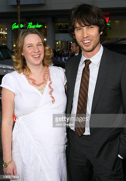 Jon Heder and his wife Kirsten during Blades of Glory Los Angeles Premiere Red Carpet at Mann's Chinese Theater in Hollywood California United States