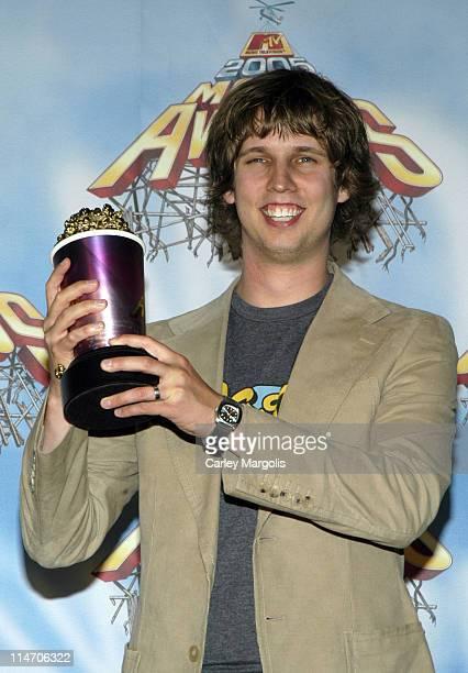 Jon Heder during 2005 MTV Movie Awards - Press Room at Shrine Auditorium in Los Angeles, California, United States.
