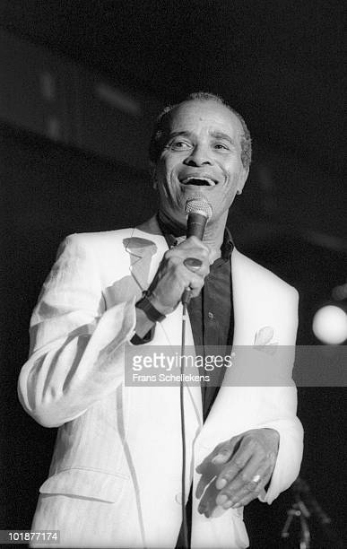 Jon Hendricks performs live on stage at the North Sea Jazz Festival in The Hague Holland on July 11 1986