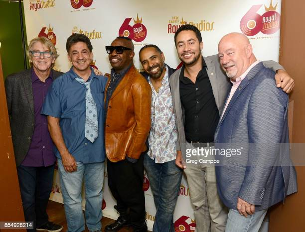 Jon Hornyak Niko Bolas Steve Jordan Lawrence 'Boo' Mitchell Gebre Waddell and Reid Wick at the celebration of 60 years of Royal Studios on September...