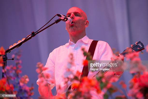 Jon Hudson of Faith No More performs onstage during the second day of the Bravalla Festival on June 26, 2015 in Norrkoping, Sweden.