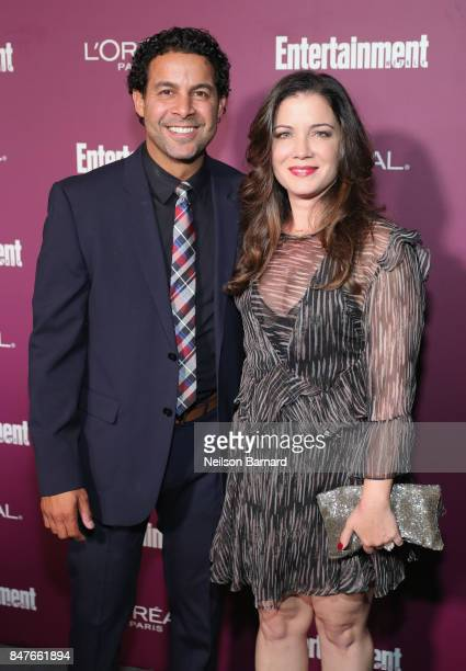 Jon Huertas and Nicole Huertas attend the 2017 Entertainment Weekly PreEmmy Party at Sunset Tower on September 15 2017 in West Hollywood California