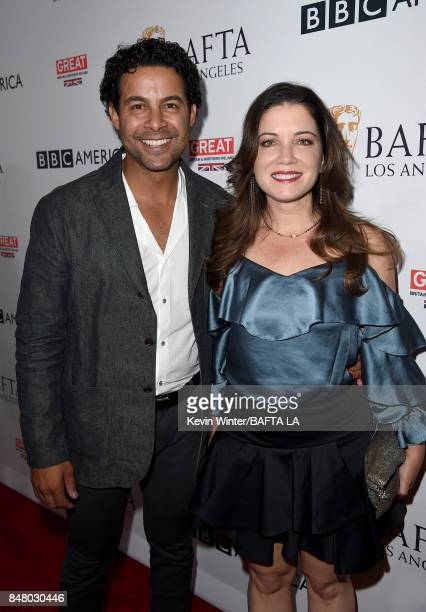 Jon Huertas and Nicole Huertas attend the BBC America BAFTA Los Angeles TV Tea Party 2017 at The Beverly Hilton Hotel on September 16 2017 in Beverly...