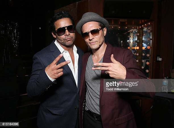 Jon Huertas and Seamus Dever attend Les Girls 16 at the Avalon on October 16 2016 in Los Angeles California