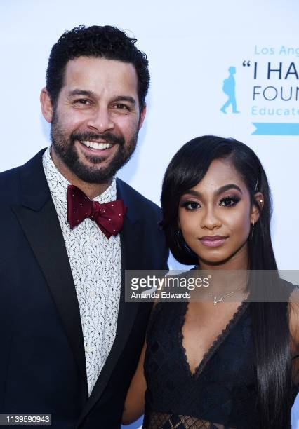 Jon Huertas and Tetona Jackson arrive at the 6th Annual I Have A Dream Foundation Los Angeles Dreamer Dinner Benefit at the Skirball Cultural Center...
