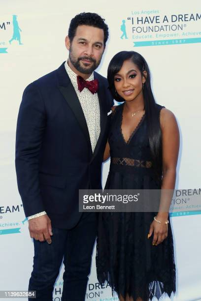 Jon Huertas and Tetona Jackson attend I Have A Dream Foundation Los Angeles Hosts 6th Annual Dreamer Dinner Benefit at Skirball Cultural Center on...