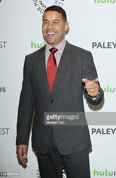 Jon Huertas arrives at the 2012 PaleyFest 'Castle' held at Saban Theatre on March 9 2012 in Beverly Hills California