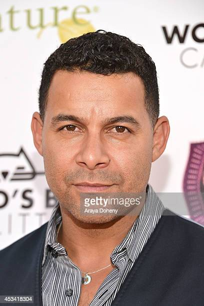 Jon Huertas attends the A CATbaret A One Night Only Celebrity Musical Celebration of the Alluring Feline at The Belasco Theater on August 9 2014 in...