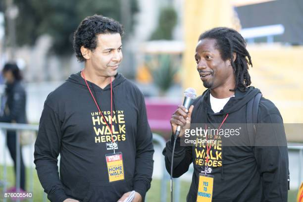 Jon Huertas interviews Sam Randolph at the United Way Celebrates 11th Annual HomeWalk To End Homelessness IN LA County at Los Angeles Grand Park on...