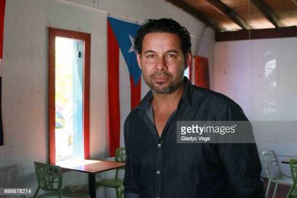 Jon Huertas pose as part of press conference of movie 'Imprisoned' on June 22 2017 in Loiza Puerto Rico