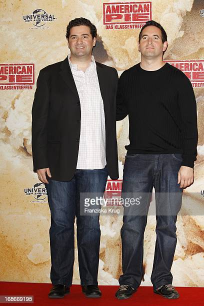 Jon Hurwitz and Hayden Schlossberg at photocall for the movie American Pie Reunion in Berlin on 29th of March