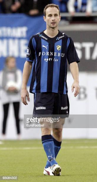 Jon Inge Hoeiland of Stabaek IF during the Norwegian Tippeligaen match between Stabaek IF and FK Bodo/Glimt held at the Telenor Arena on October 25...