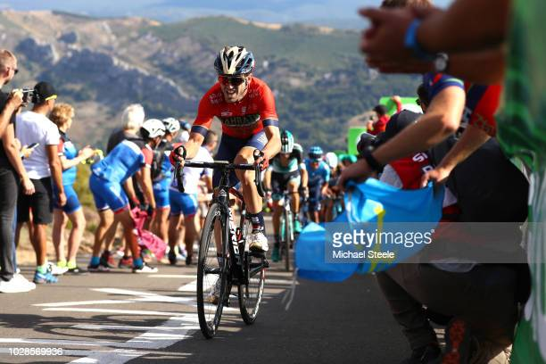 Jon Izaguirre Insausti of Spain and Bahrain Merida Pro Cycling Team / Alto de la Camperona / Fans / Public / during the 73rd Tour of Spain 2018 Stage...
