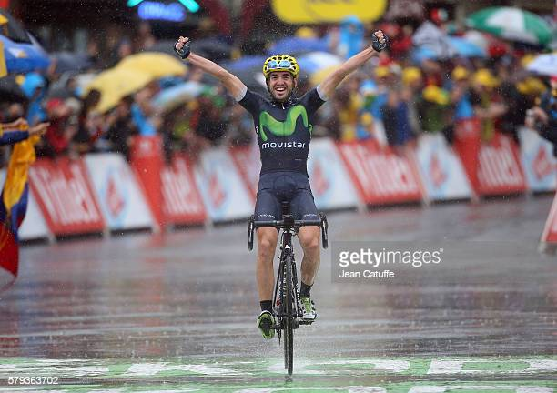 Jon Izaguirre Insausti of Spain and Movistar Team celebrates winning stage 20 of the Tour de France 2016 a stage of 1465 km between Megeve and...