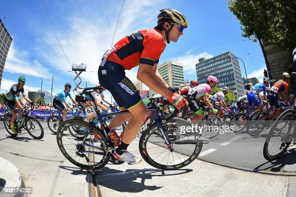 Jon Izaguirre of Spain and BahrainMerida competes during stage six of the 2018 Tour Down Under on January 21 2018 in Adelaide Australia
