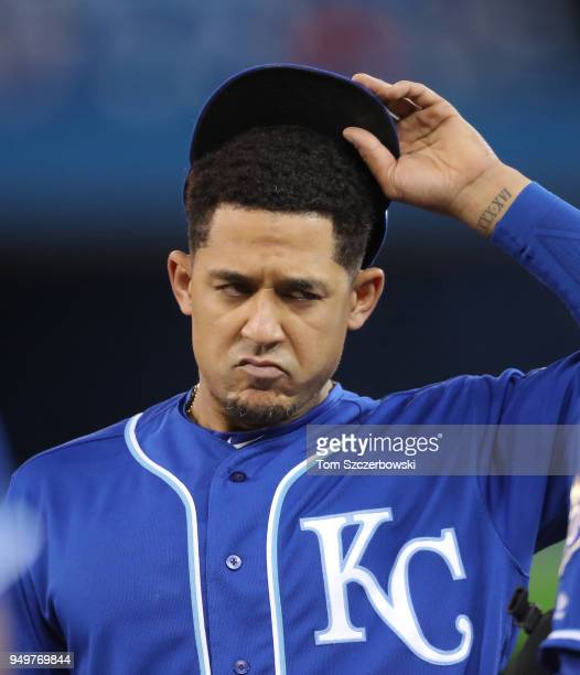 Jon Jay of the Kansas City Royals during their MLB game against the Toronto Blue Jays at Rogers Centre on April 17 2018 in Toronto Canada Jon Jay