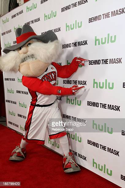 Jon 'Jersey' Goldman as UNLV's Hey Reb at Hulu Presents The LA Premiere Of 'Behind the Mask' at the Vista Theatre on October 24 2013 in Los Angeles...