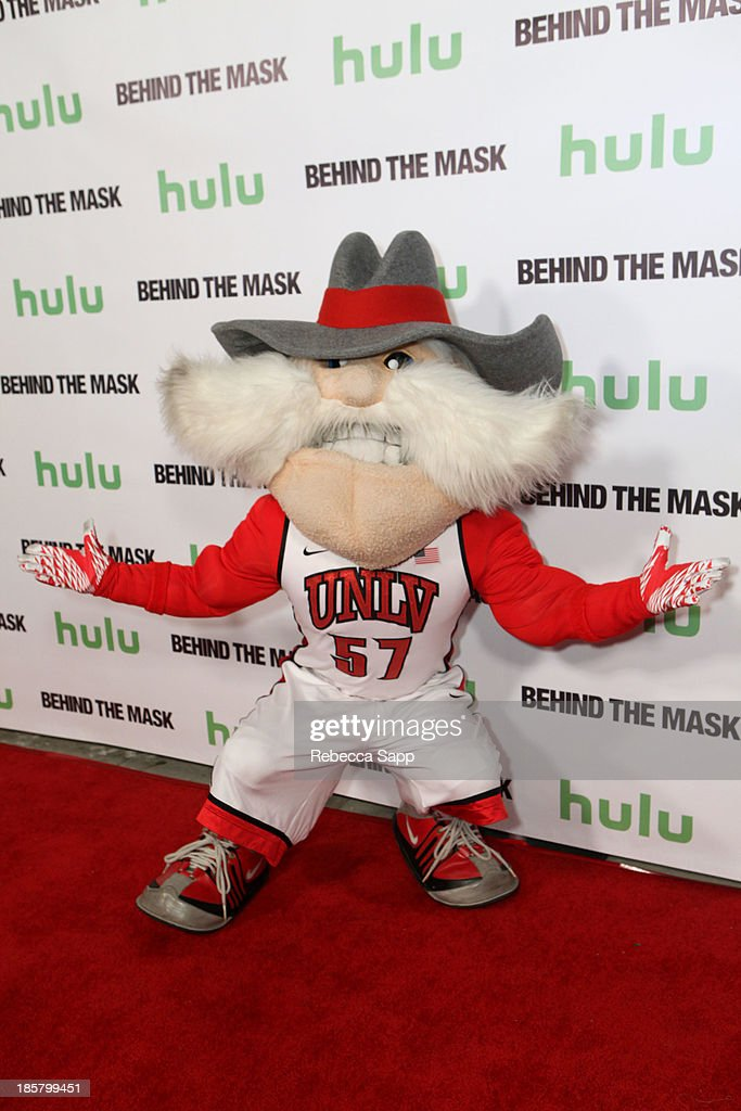 Jon 'Jersey' Goldman as UNLV's Hey Reb at Hulu Presents The LA Premiere Of 'Behind the Mask' at the Vista Theatre on October 24, 2013 in Los Angeles, California.