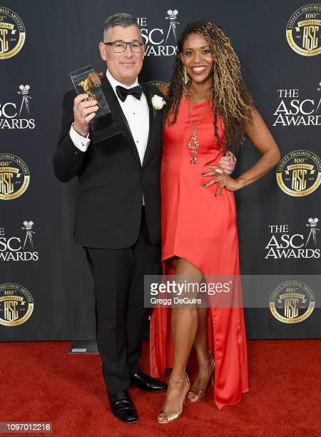 Jon Joffin and Merrin Dungey attend the 33rd Annual American Society Of Cinematographers Awards For Outstanding Achievement In Cinematography at The...