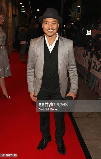 Jon Jon Briones attends the 16th Annual WhatsOnStage Awards at The Prince of Wales Theatre on February 21 2016 in London England