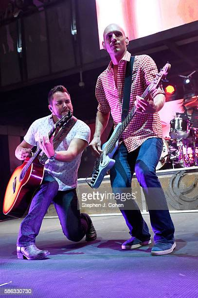 Jon Jones and Mike Eli of the Eli Young Band performs at 4th Street Live on August 5 2016 in Louisville Kentucky