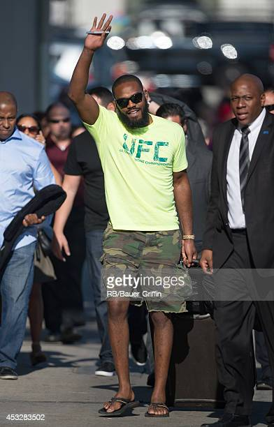Jon Jones is seen at 'Jimmy Kimmel Live' on August 06 2014 in Los Angeles California