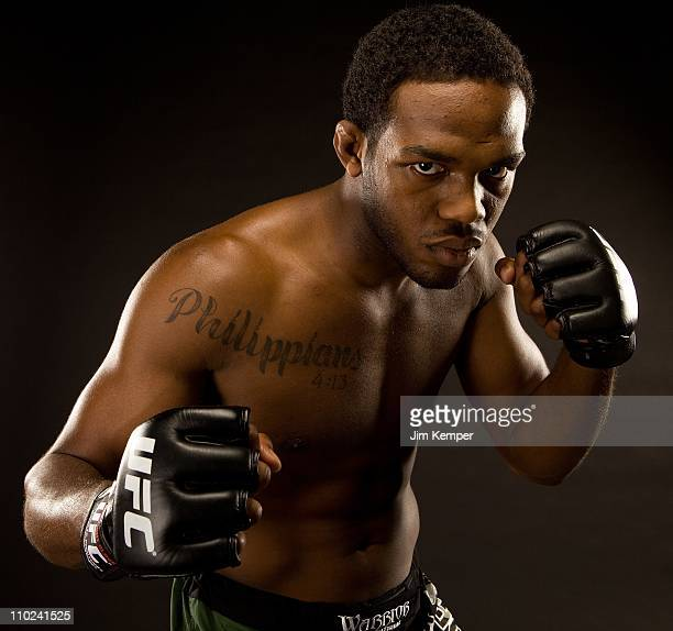 Jon Jones poses for a portrait on November 1 2009 in Las Vegas Nevada