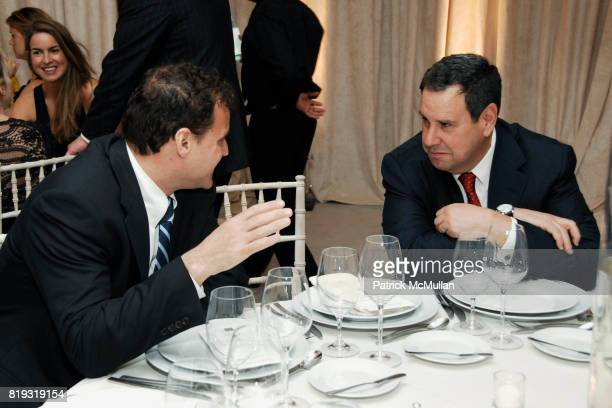 Jon Kahn and Steve Sadove attend SAKS FIFTH AVENUE VALENTINO Host a Dinner to benefit SAVE VENICE at Saks Fifth Avenue on April 14 2010 in New York...