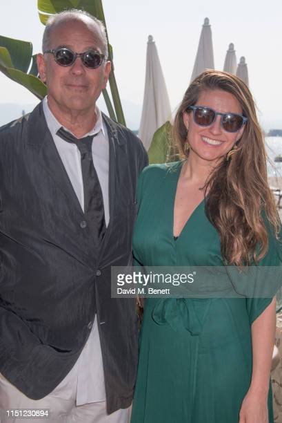 Jon Kamen and Zara Duffy attend a cocktail party hosted by Alejandro Agag ahead of the World Premiere of the Formula E documentary And We Go Green...