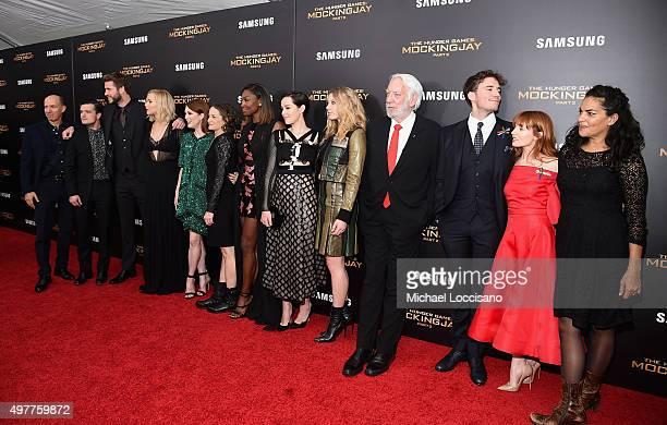Jon Kilik Josh Hutcherson Liam Hemsworth Jennifer Lawrence Julianne Moore Nina Jacobson Patina Miller Jena Malone Natalie Dormer Donald Sutherland...