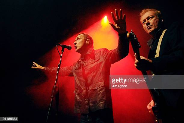 Jon King and Andy Gill of British newwave group Gang Of Four perform at the Kentish Town Forum to celebrate the 30th anniversary of their debut album...