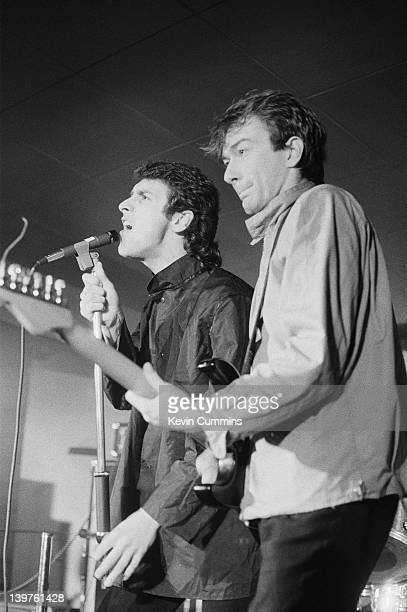 Jon King and Andy Gill performing with English postpunk group Gang of Four at the Russell Club aka The Factory Manchester 9th February 1979