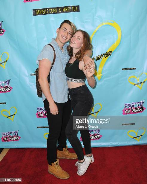 Jon Klaasen and Elyssa Joy attend the Release Party For Dani Cohn And Mikey Tua's Song Somebody Like You held at The Industry Loft on June 8 2019 in...
