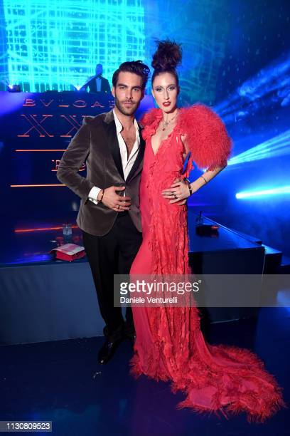 Jon Kortajarena and Anna Cleveland attend the Bvlgari BZERO1 XX Anniversary Global Launch Event at Auditorium Parco Della Musica on February 19 2019...