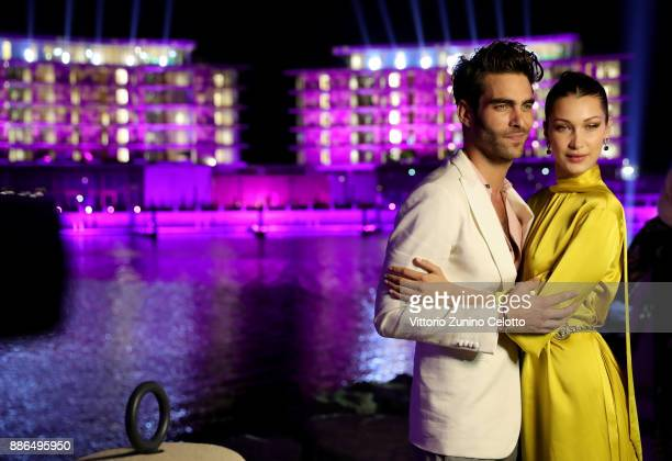 Jon Kortajarena and Bella Hadid attend the Grand Opening of Bulgari Dubai Resort on December 5 2017 in Dubai United Arab Emirates