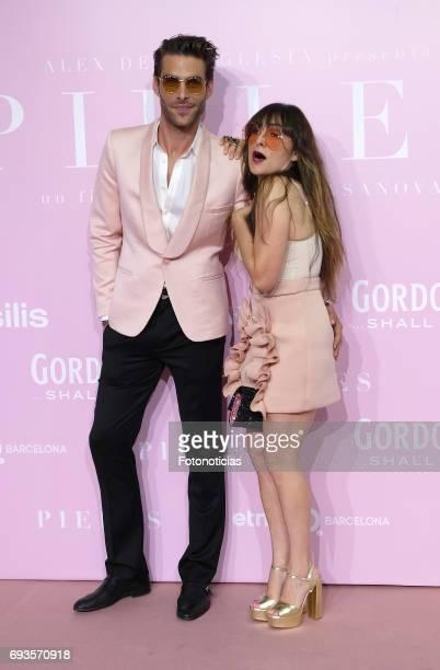 Jon Kortajarena and Candela Pena attend the 'Pieles' premiere pink carpet at Capitol cinema on June 7 2017 in Madrid Spain