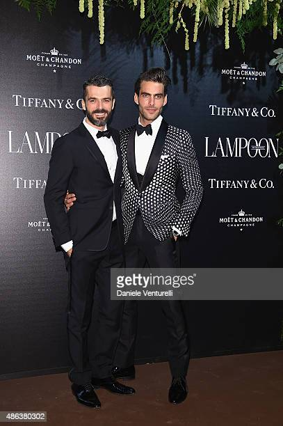 Jon Kortajarena and Luca Argentero attend the Lampoon Gala during the 72nd Venice Film Festival at Palazzo Pisani Moretta on September 3 2015 in...