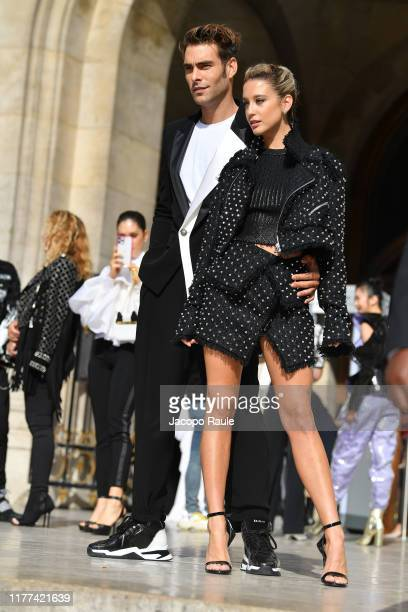 Jon Kortajarena and Maria Pedraza attend the Balmain Womenswear Spring/Summer 2020 show as part of Paris Fashion Week on September 27 2019 in Paris...