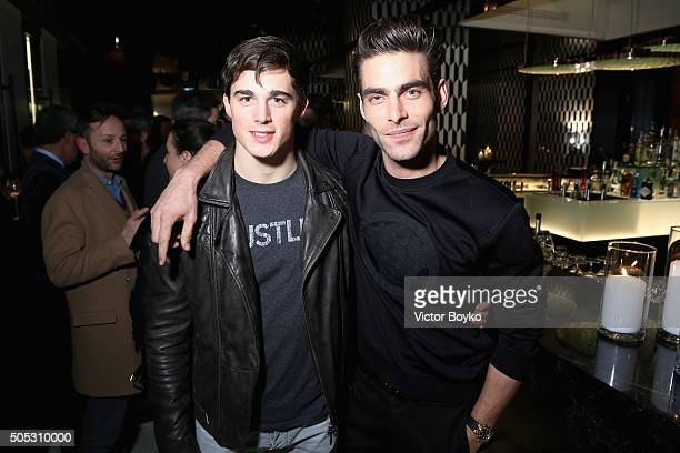 Jon Kortajarena and Pietro Boselli attend GQ's Celebration of GQ Style EditorInChief Will Welch during Milan Men's Fashion Week Fall/Winter 2016/2017...