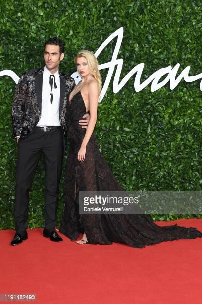 Jon Kortajarena and Stella Maxwell arrive at The Fashion Awards 2019 held at Royal Albert Hall on December 02 2019 in London England