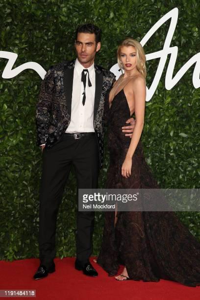 Jon Kortajarena and Stella Maxwell arrives at The Fashion Awards 2019 held at Royal Albert Hall on December 02 2019 in London England
